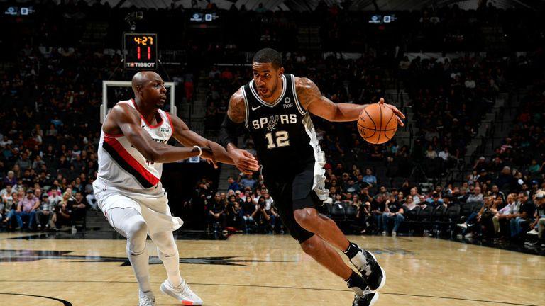 San Antonio Spurs against Portland Trail Blazers in the NBA