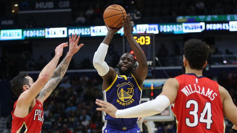Goldern State Warriors against New Orleans Pelicans in the NBA
