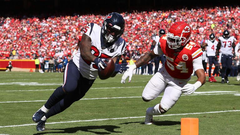 Kansas City Chiefs against Houston Texans in the NFL