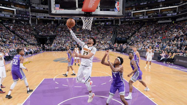 Denver Nuggets against Sacramento Kings in the NBA