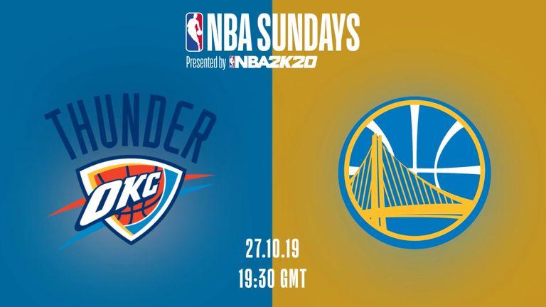 THUNDER @ WARRIORS - NBA Sundays