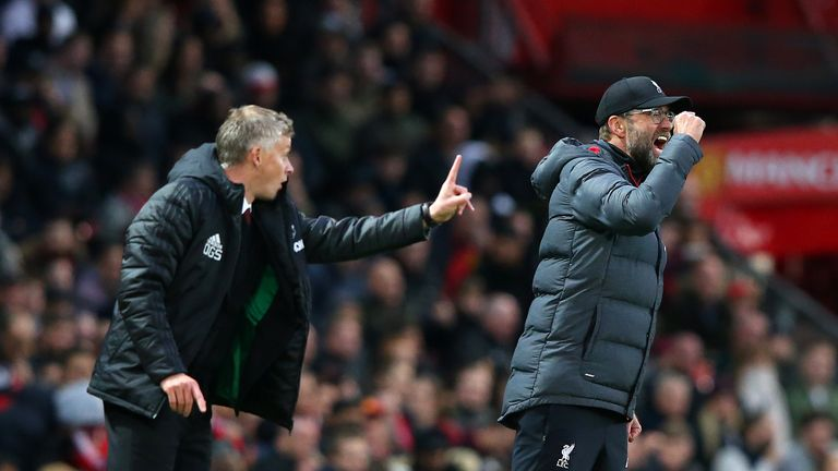 Ole Gunnar Solskjaer and Jurgen Klopp had opposing views on United's style of play