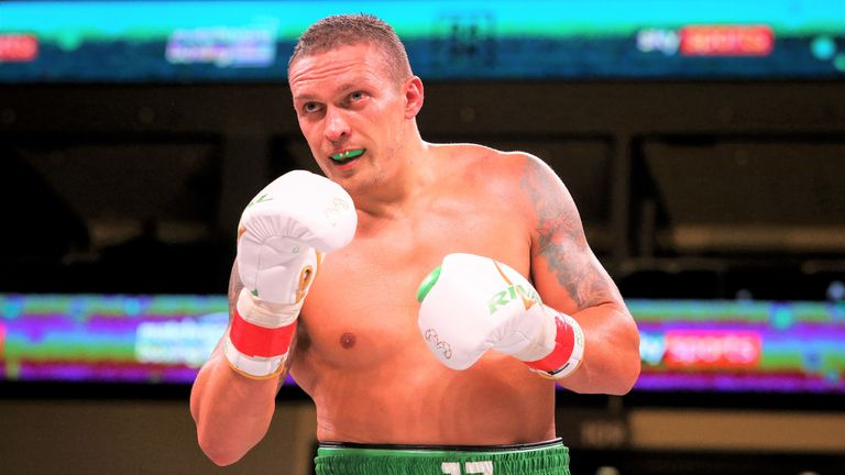 Usyk recently joined the heavyweight division