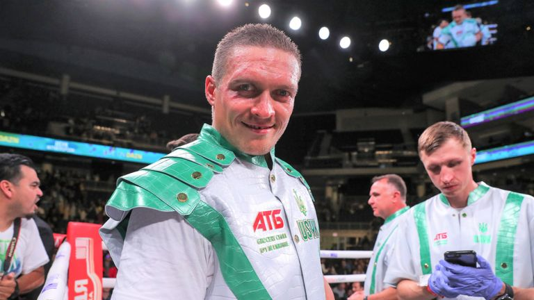 Oleksandr Usyk has also been targeting a world title fight against Joshua