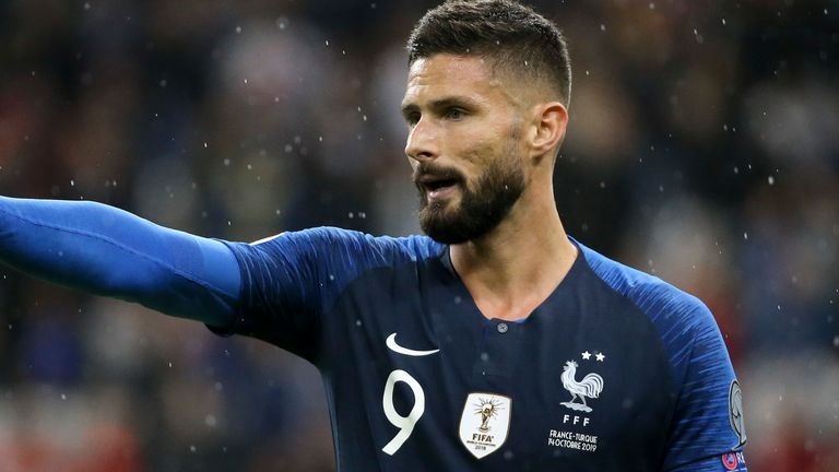 Olivier Giroud needs to play more for Chelsea, says Didier Deschamps