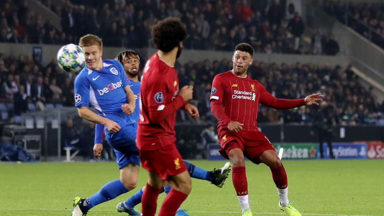 Oxlade-Chamberlain scored as Liverpool beat Genk 4-1