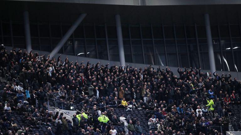 Red Star Belgrade fans managed to enter the Tottenham Hotspur Stadium despite a ban from UEFA