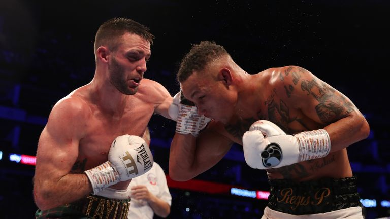 Regis Prograis v Josh Taylor, World Boxing Super Series Super-Lightweight Ali Trophy Final, WBA Super, IBF, WBC Diamond & Ring Magazine Super-Lightweight titles, o2 Arena, London.26th October 2019.Picture By Mark Robinson..