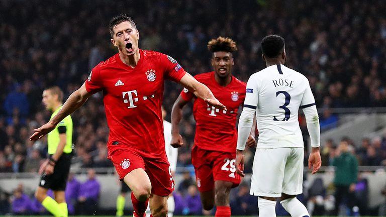 Robert Lewandowski gives Bayern Munich the lead at Tottenham
