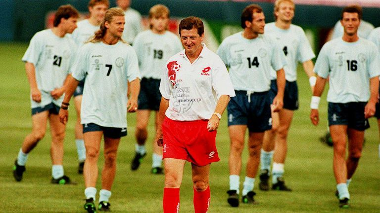 Hodgson while managing Switzerland at the World Cup in 1994