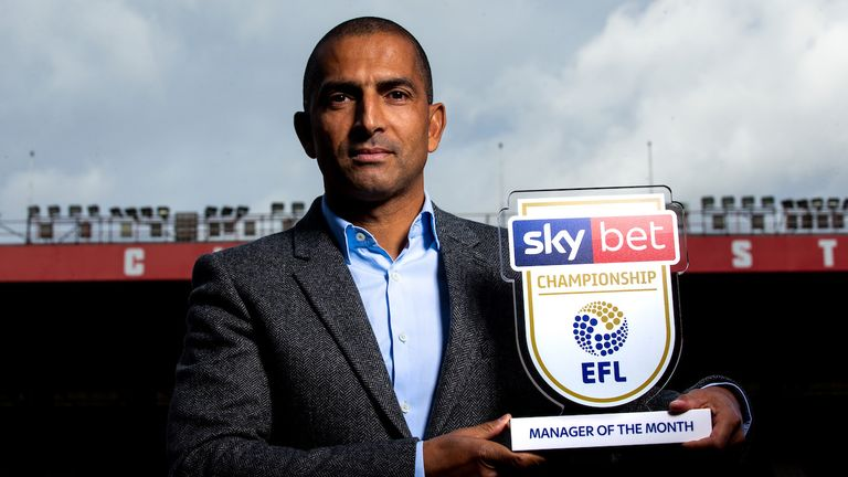 Chey Dunkley of Wigan Athletic wins the Sky Bet Championship Player of the Month award - Mandatory by-line: Robbie Stephenson/JMP - 09/10/2019 - FOOTBALL - Wigan Athletic Training Ground - Wigan, England - Sky Bet Player of the Month Award