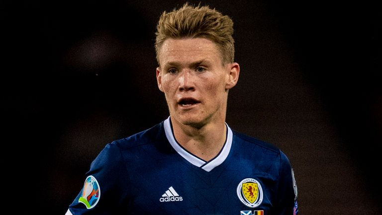 Scott McTominay in action for Scotland