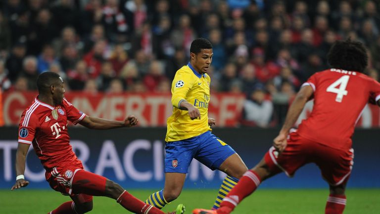 Gnabry suffered a season-ending injuring against Bayern Munich in the Champions League in 2013