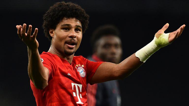 Serge Gnabry scored four as Bayern Munich hit seven past Tottenham
