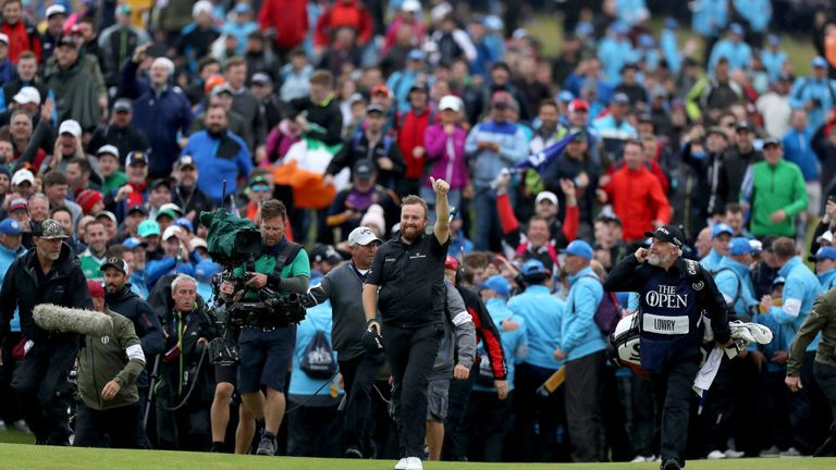 Lowry claimed his maiden major title with a six-shot victory at Royal Portrush