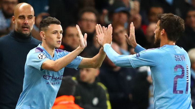 Phil Foden is suspended while David Silva will misses out with a muscle injury