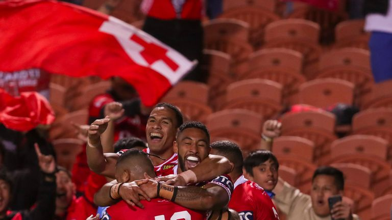 Sione Katoa touched down for Tonga