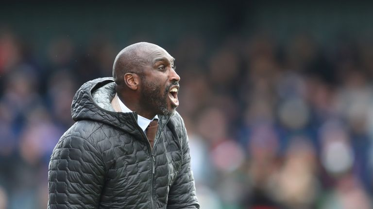 Sol Campbell takes charge of his first game as Southend manager on Saturday against Ipswich