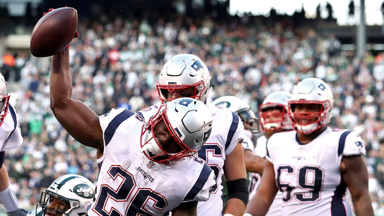 Sony Michel set a new career-best record as the Patriots continued their blistering start to the season