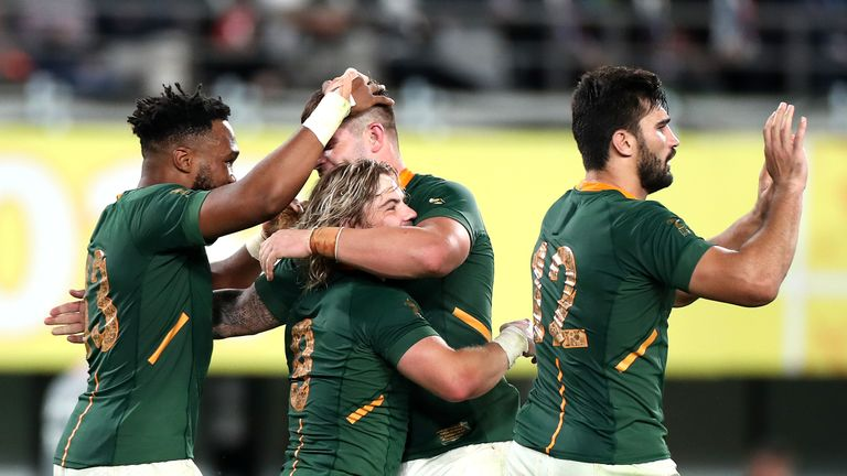 South Africa are through to the semi-finals, where they will face Wales