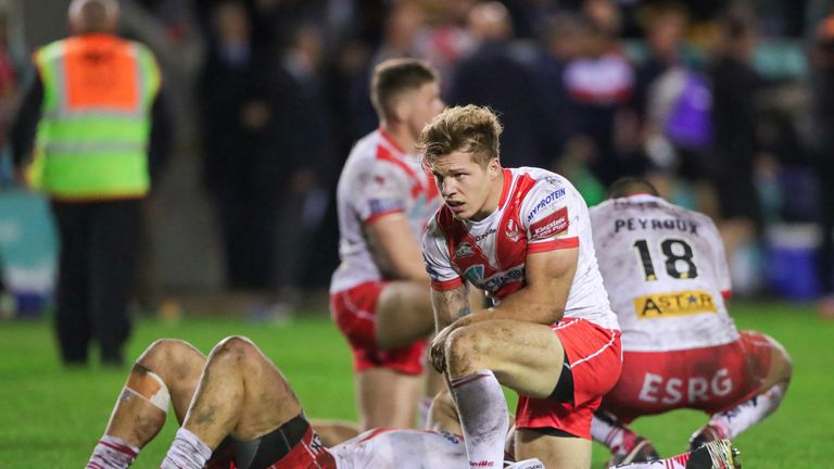 St Helens were left dejected after a golden-point defeat to Castleford in 2019