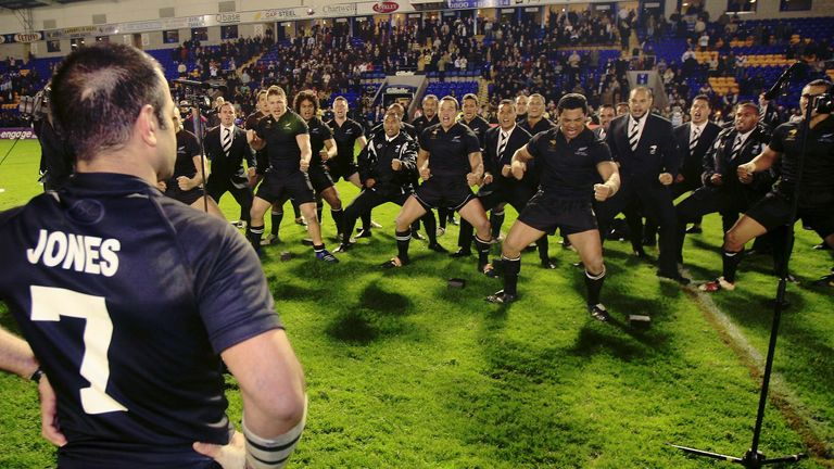 The All Golds performed a Haka for the retiring Stacey Jones