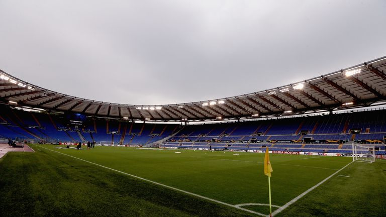 A general view of the Stadio Olimpico before the UEFA Europa League Group H match between Lazio and Apollon Limassol