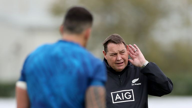 All Blacks head coach Steve Hansen has laughed off the majority of Jones' claims