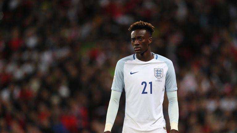 Tammy Abraham has played for England in two friendly matches