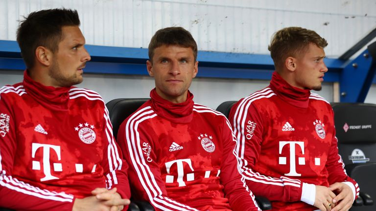 Thomas Muller is unhappy with his lack of game time at Bayern