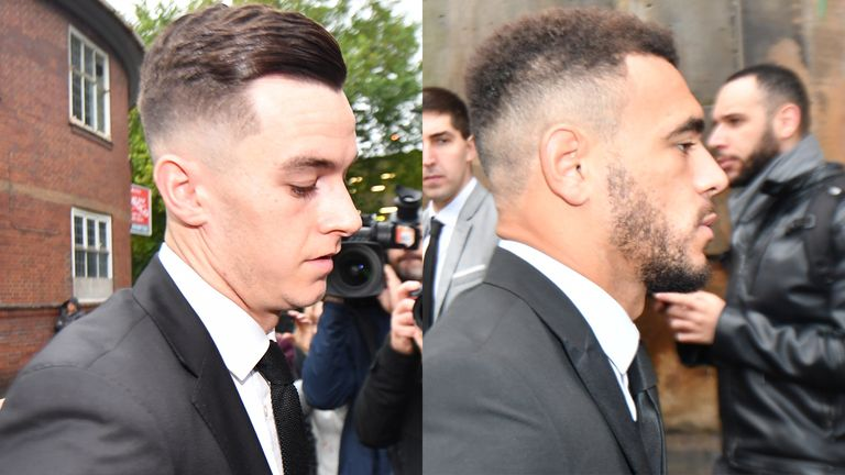 Derby's Tom Lawrence and Mason Bennett were arrested after a squad night out last month