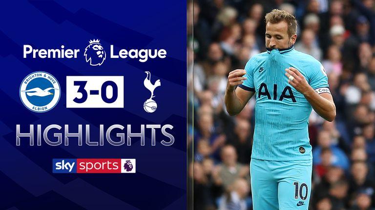 Brighton 3-0 Tottenham highlights