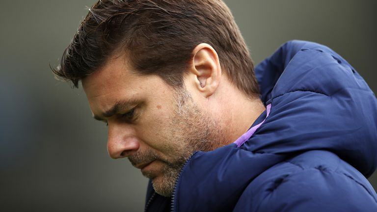 Tottenham manager Mauricio Pochettino during the defeat at Brighton