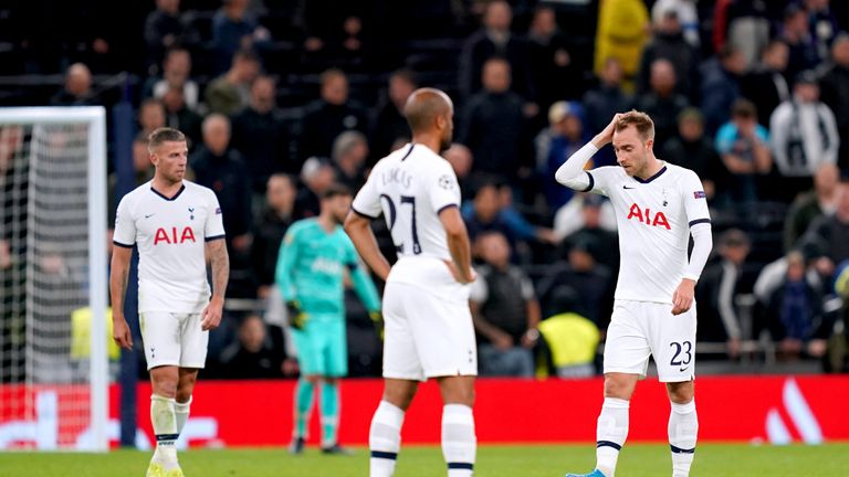 Tottenham were thrashed 7-2 by Bayern Munich on Tuesday