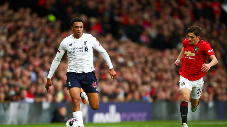 Trent Alexander-Arnold had a difficult game for Liverpool