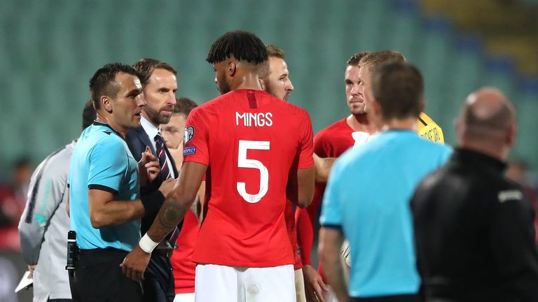 England defender Tyrone Mings faced racism from Bulgaria fans