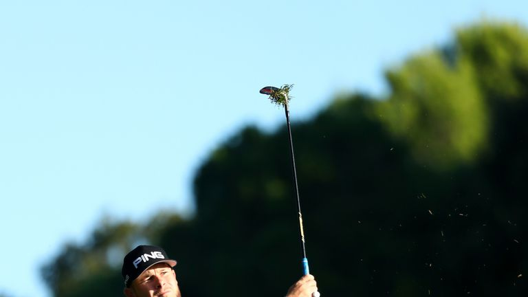 Hatton rebuked his fiancee and then flushed his second shot to four feet