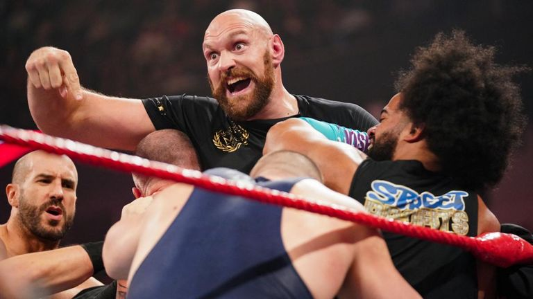 British boxer Tyson Fury is back in WWE tonight, as SmackDown heads to Manchester