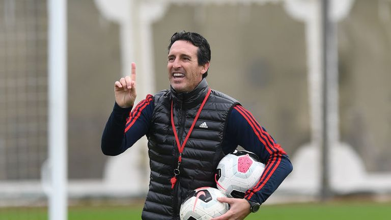 Unai Emery believes Arsenal are on an upwards trajectory