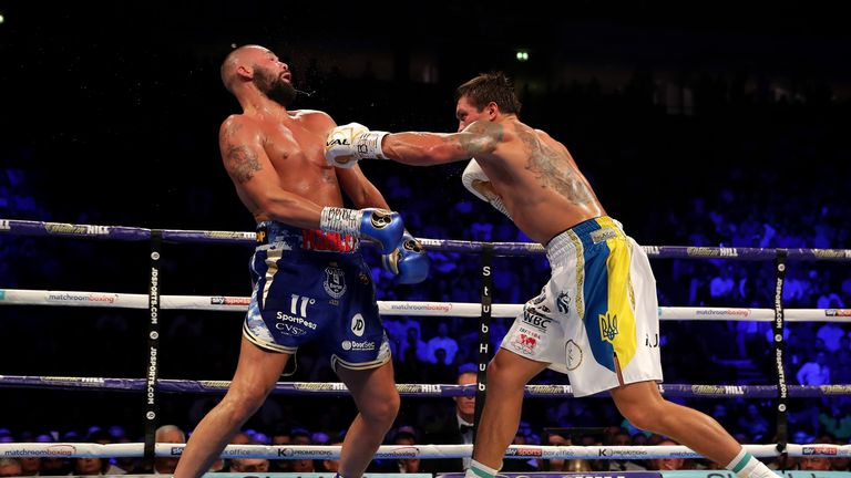 Usyk KO'd Bellew and is now unbeaten in 16