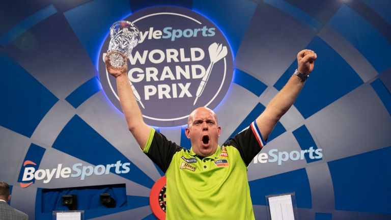 Michael van Gerwen has found form at the right time of year after digging deep to claim the World Grand Prix