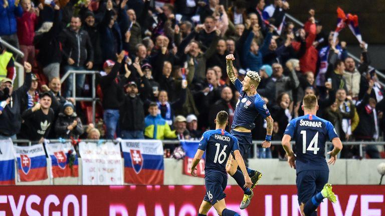 Juraj Kucka's venomous volley drew Slovakia level on 53 minutes