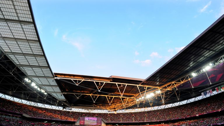during the Women's Football gold medal match on Day 13 of the London 2012 Olympic Games at Wembley Stadium on August 9, 2012 in London, England.