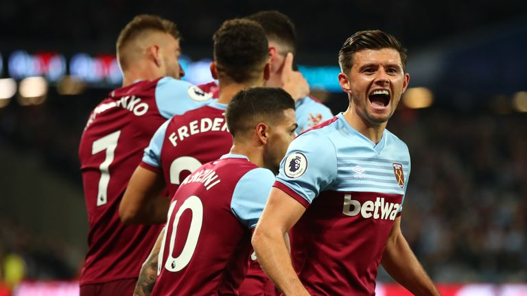 Aaron Cresswell has made 184 appearances since joining West Ham from Ipswich