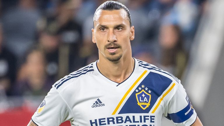 Zlatan Ibrahimovic watches on as LA Galaxy were eliminated from the MLS Cup Play-offs