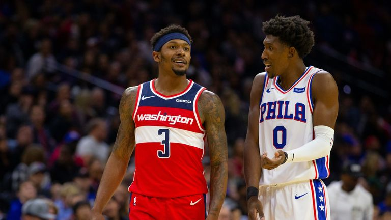 Bradley Beal shares a word with Josh Richardson