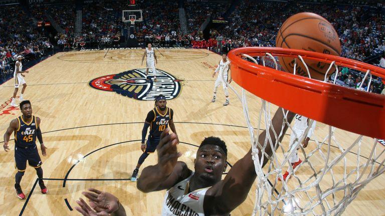 Zion Williamson termina en el borde contra los Jazz de Utah