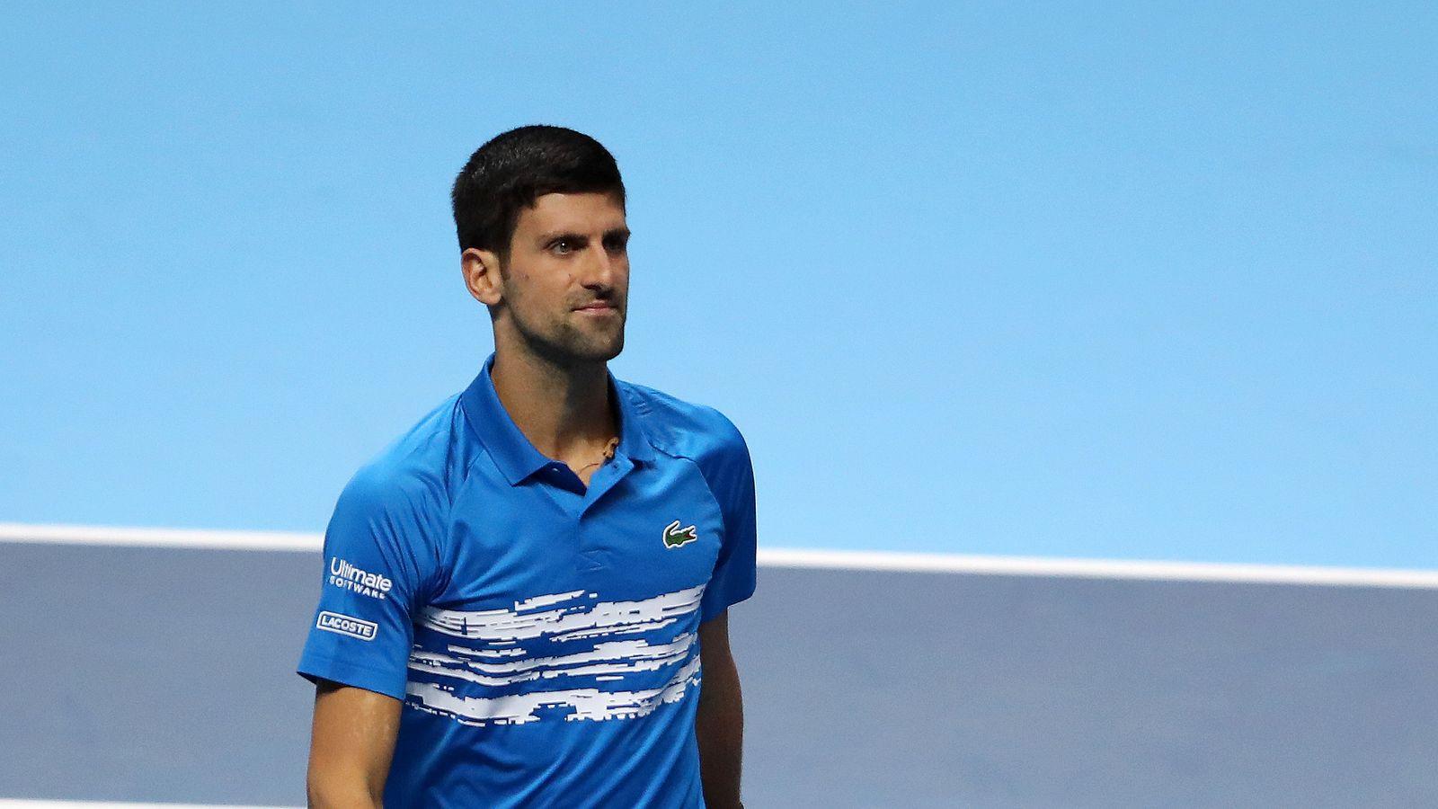 ATP Finals: Novak Djokovic allays elbow injury concerns after Roger Federer defeat - Sky Sports