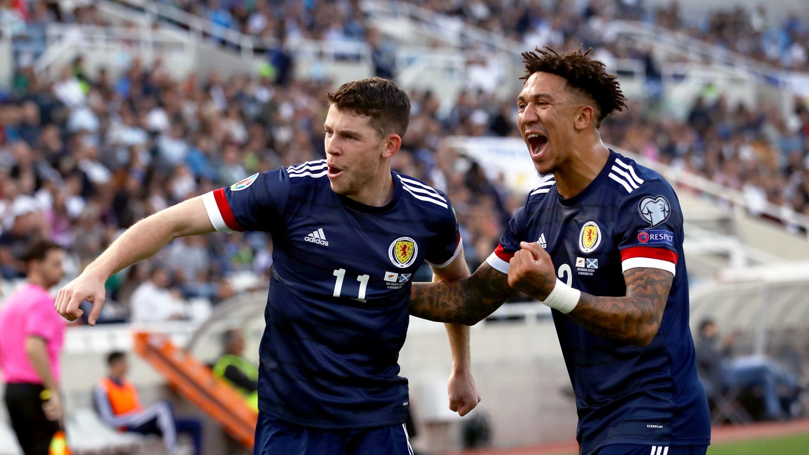 Cyprus 1-2 Scotland: Ryan Christie and John McGinn on target for visitors in Euro 2020 Qualifier