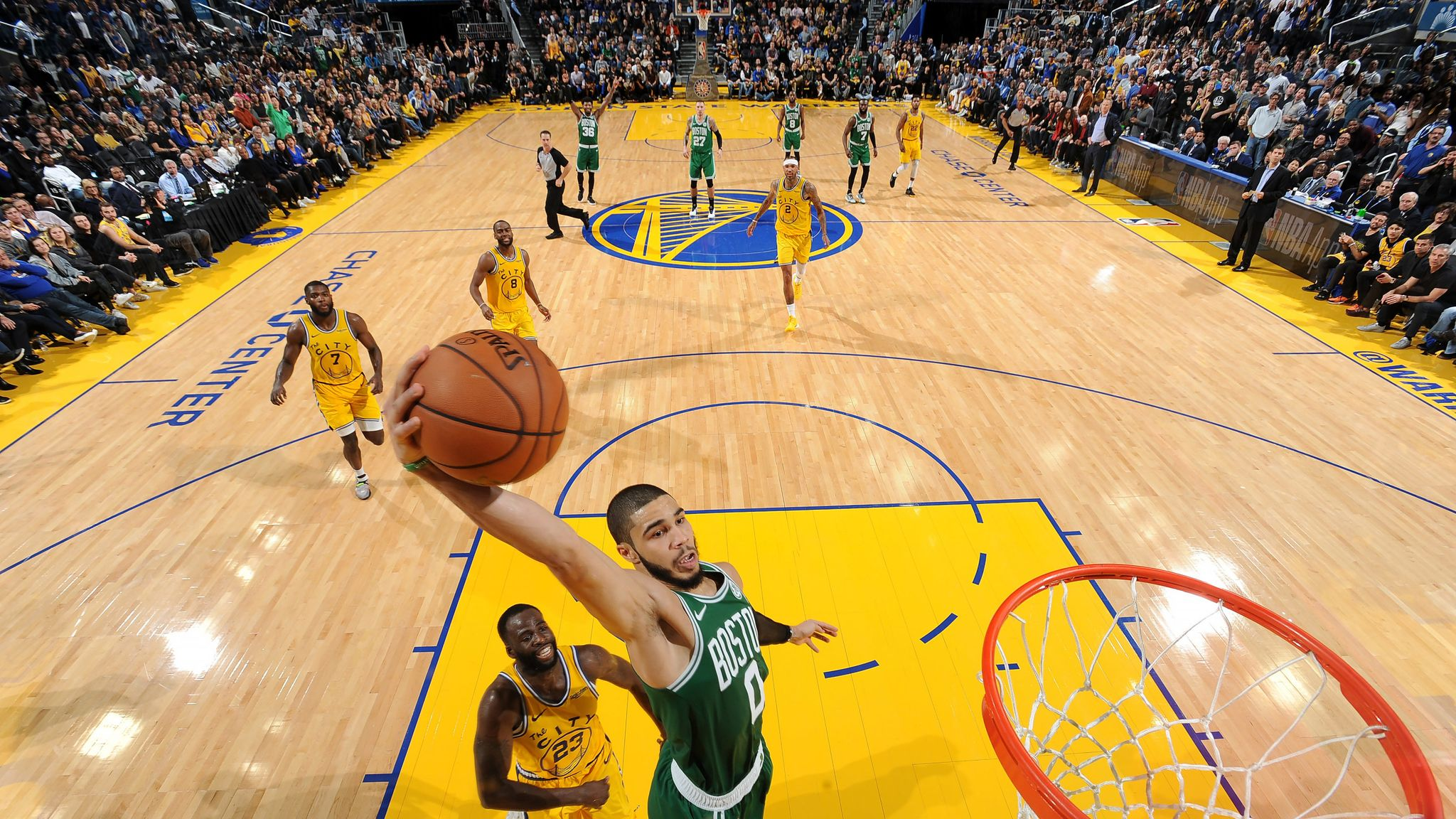 Boston Celtics rally past Golden State Warriors for 10th straight win
